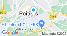 Plan Carte Centre de remise en forme La Baignoire à Poitiers