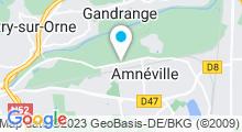 Plan Carte Centre Aquabike Les Thermes à Amnéville