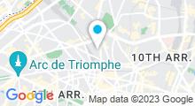 Plan Carte Centre Waterbike Liège Saint-Lazare à Paris (8ème)