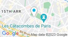 Plan Carte Centre aquabike Point Soleil rue de l'Ouest à Paris (14ème)