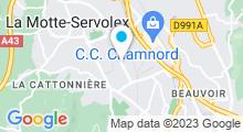 Plan Carte Salle de sport avec piscine Olympe Aqua Fitness à Chambéry