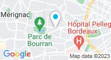 Plan Carte Centre aquabike So-Forme à Bordeaux Merignac