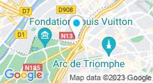 Plan Carte Les Bains de Marrakech à Neuilly-sur-Seine