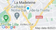Plan Carte Centre aquabike Power Shop à La Madeleine