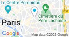 Plan Carte Centre aquabike Bien-être & Spa à Paris (11ème)