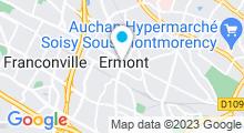 Plan Carte Centre Waterbike à Ermont