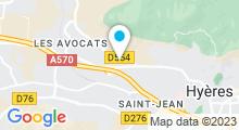 Plan Carte Centre Anadrea de Hyères