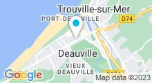 Plan Carte Centre aquabike Deauvital à Deauville