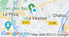 Plan Carte Centre Waterbike à Le Vésinet