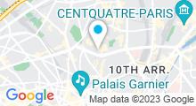Plan Carte Centre aquabike Institut des Abbesses à Paris (18ème)