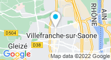Plan Carte Centre aquabike et minceur Albaligne à Villefranche sur Saône