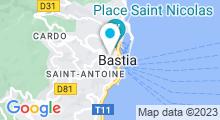 Plan Carte Centre aquabike La Maison d'Eau à Bastia