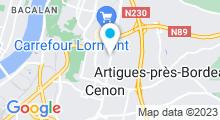 """Plan Carte Centre de Luxopuncture & Spa """"Les Thermes"""" à Cenon - Bordeaux"""