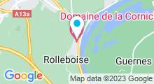 Plan Carte Spa du Domaine de la Corniche à Rolleboise