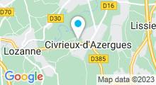 Plan Carte Spa Skin & Sens à Civrieux d'Azergues