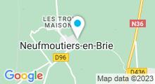 Plan Carte Spa du Domaine de Bellevue à Neufmoutiers en Brie