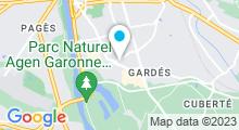 Plan Carte Spa Aginum Thermae à Boé