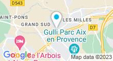 Plan Carte Salle de sport avec piscine Sun Gym à Aix-les-Milles