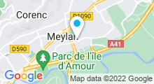 Plan Carte Salle de sport avec piscine Meylan Fitness à Meylan