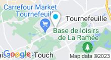 Plan Carte Salle de sport avec piscine Gymnasia à Tournefeuille