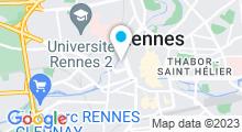 Plan Carte Centre aquabike Abelforme à Rennes