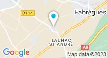 Plan Carte Le Zenaia Spa à Fabrègues