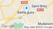 Plan Carte Spa Esprit d'Ailleurs à Baillargues