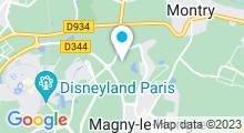 Plan Carte The Dream Castle Spa à Magny Le Hongre