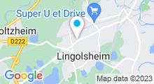 Plan Carte Centre aquabike et institut Athéna à Lingolsheim