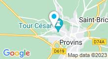 Plan Carte Spa Rosa Gallica à Provins