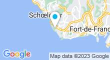 Plan Carte Centre Waterbike Martinique à Schoelcher