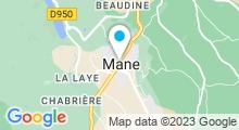 """Plan Carte Spa """"Le Couvent des Minimes"""" à Mane-en-Provence"""