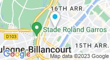 Plan Carte Centre aquabike et bronzage Point Soleil Bastien Lepage à Paris (16ème)