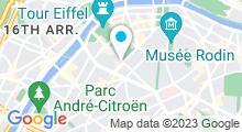 Plan Carte Centre aquabike Vel'Eau for Ever à Paris (15ème)