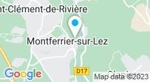 Plan Carte Centre de fitness avec piscine Aquabike Center à Montferrier-sur-Lez