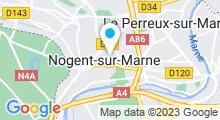 Plan Carte Centre aquabike HydroSpaBike à Nogent-sur-Marne