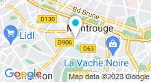 Plan Carte Centre aquabike Egocentrik à Montrouge