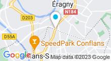 Plan Carte Salle de sport et aquabike Lady Fitness à Conflans Sainte Honorine