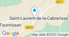 """Plan Carte Spa """"Les Jardins de Saint Benoît"""" à St-Laurent-de-la-Cabrerisse"""