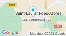 Plan Carte Spa de la Villa de Jade à Saint Laurent des Arbres