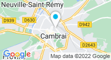 Plan Carte Centre Aquaforme à Cambrai