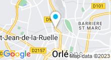 Plan Carte Centre Waterbike à Orléans
