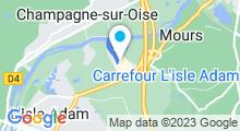 Plan Carte Ô Bike Spa à L'Isle-Adam