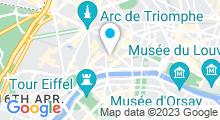 Plan Carte Hôtel de la Tremoille à Paris (8ème)