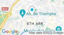Plan Carte Spa de l'Hôtel Champs Elysées Plaza à Paris (8ème)