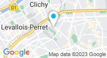 Plan Carte Hôtel Ibis - Berthier Porte de Clichy à Paris (17ème)