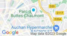 Plan Carte Hammam Bains de Saadia à Paris (19ème)