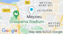 Plan Carte Institut Biotonus à Meyzieu