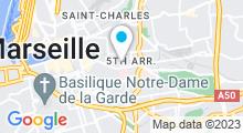 Plan Carte Centre Santé Forme à Marseille (5ème)