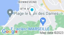 Plan Carte Institut Lotus Harmony à Marseille (8ème)